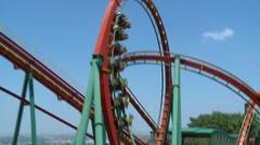Stock Video Footage of Roller coaster of Janfusun Fancyworld Jian Hu Shan Theme Park in Yunlin, Taiwan