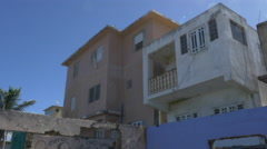 Abandoned buildings on Puerto Rico coast Stock Footage