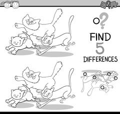 Stock Illustration of differences task for coloring