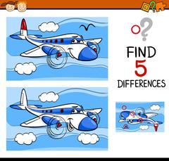 Find the differences task Stock Illustration