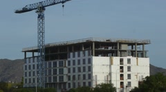 Hotel Construction-Wide shot Stock Footage