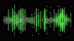 Digital Data Sound Wave Led Panel Graphics Stock Footage