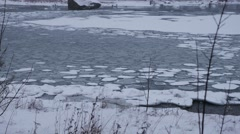 Ice Floes, baltic sea, norway Stock Footage