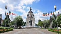 Orthodox Cathedral in Cluj Napoca Transylvania Romania Stock Footage