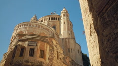 Dormition Abbey Tracking Shot Stock Footage