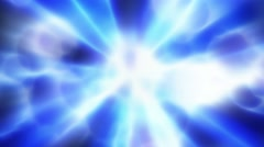 Abstract motion background, shining light, rays, concentric energy waves. Loop. Stock Footage