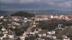 View of the city of Campobasso Stock Footage