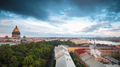 Saint Isaac's Cathedral And Voznesensky Prospect - stock footage