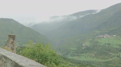 The Staffora  valley in a rainy day Stock Footage