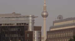 Berlin TV Tower City Landscape Stock Footage