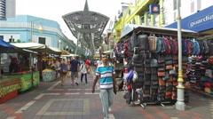 Hyper lapse of Kasturi Walk next to the Pasar Seni market in Kuala Lumpur. Stock Footage
