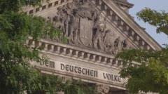 Berlin German Parliament Reichstag Fassade Stock Footage