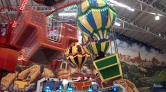 Balloon ride in Formosan Aboriginal Culture Village, Taiwan Stock Footage