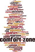 Comfort zone word cloud Stock Illustration