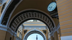 Arch Of The General Staff Is In Saint Petersburg Stock Footage