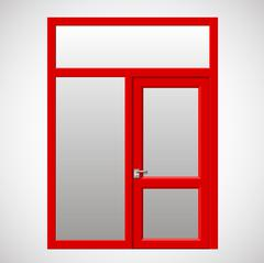 Exit door to the terrace - stock illustration