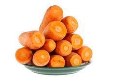 Ripe carrot on a white background Stock Photos