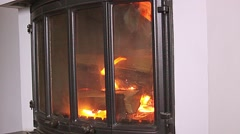 Flame in the fireplace Stock Footage