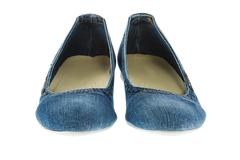 image of blue jeans women fashion slippers - stock photo