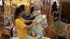 Carousel in Formosan Aboriginal Culture Village, Taiwan - stock footage