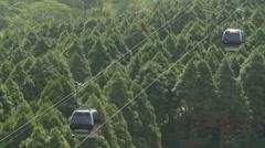 Cable car in Formosan Aboriginal Culture Village, Taiwan Stock Footage