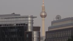 Berlin TV Tower City Afternoon Landscape Stock Footage