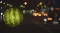 Construction And Traffic Lights Abstract Street Scene - stock footage
