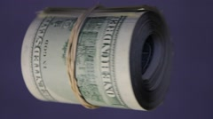 pack of dollars banknotes - stock footage