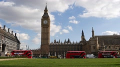 4K Footage of Big Ben, Houses of Parliament Stock Footage
