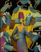 Lunatic angels, psychiatric hospital Stock Illustration