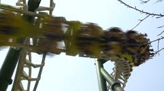 Stock Video Footage of Roller coaster in Formosan Aboriginal Culture Village, Taiwan