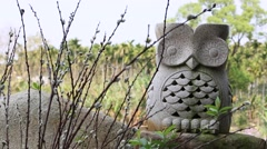 Owl totem in Formosan Aboriginal Culture Village, Taiwan Stock Footage