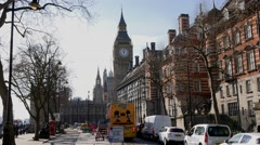 4K Timelapse Footage of Westminster Bridge, Big Ben, Houses of Parliament Stock Footage