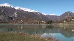 Castle Lake San Vincenzo National Park Abruzzo Lazio Molise Stock Footage