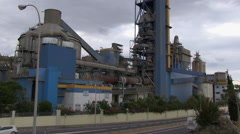 Cement Factory Stock Footage
