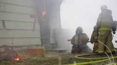 Smokey scene from a fire Stock Footage