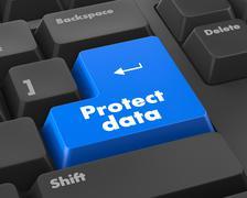 protect data - stock illustration