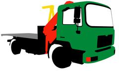 A truck with a loading arm. EPS 10 Stock Illustration