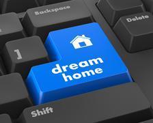 dream home - stock illustration