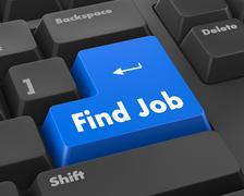 Text find job button 3d render - stock illustration