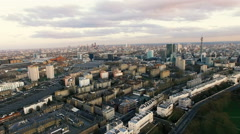 New Aerial View of Modern London City Town 4K Stock Footage