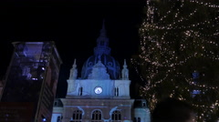 Projections on the Town Hall in Hauptplatz square, Graz Stock Footage