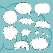 Flat bubbles set - stock illustration