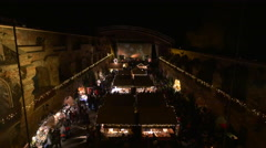 Beautiful view over the Christmas market on Schlossberg hill in Graz Stock Footage