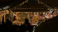 Wooden souvenirs at the Christmas Market on Schlossberg hill, Graz Stock Footage