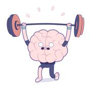 Train your brain, weightlifting Stock Illustration
