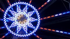 Close up of a ferris wheel at the Wonderlend at Mariahilferplatz in Graz Stock Footage
