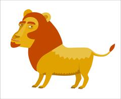 Vector lion, Dodo collection Stock Illustration