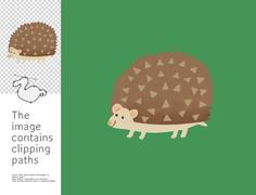 Hedgehog, Dodo collection - stock illustration
