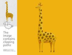 Giraffe, Dodo collection - stock illustration
